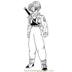 Vegeta4 Free Coloring Page for Kids
