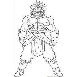 Vegeta7 Free Coloring Page for Kids