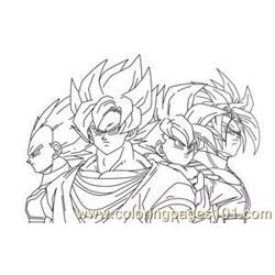 Vegetagohan Trunks By Imran Ryo Free Coloring Page for Kids