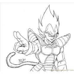 Vegeta Lineart By Bk 81 coloring page