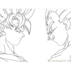 Vegeta Lineart By Imran Ryo coloring page