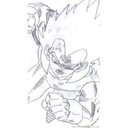 Vegeta By Hulkty Free Coloring Page for Kids