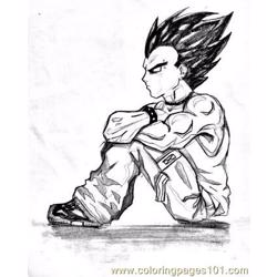 Vegeta1 Free Coloring Page for Kids