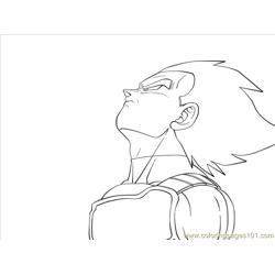 Vegeta By Carapau coloring page