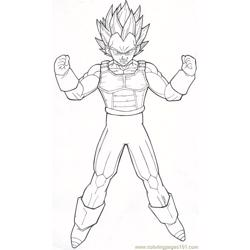 Vegeta M89 By Moncho M89 Free Coloring Page for Kids