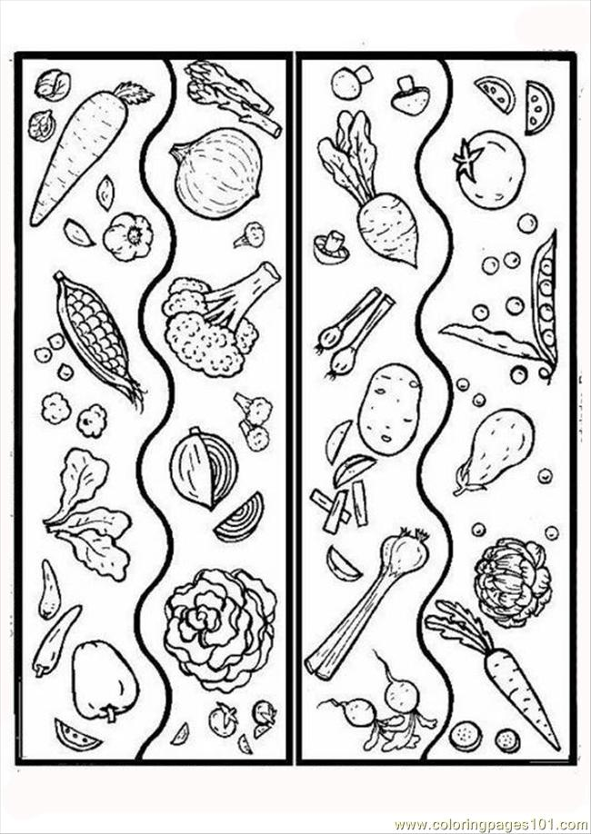 Pages Photo Vegetables P5928 Coloring Page