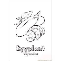 Eggplant coloring page