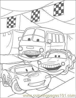 Cars 36 Coloring Page