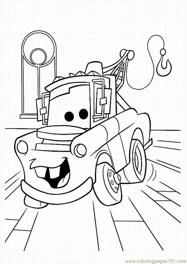 Cars (1) Coloring Page - Free Vehicle Transport Coloring Pages ...