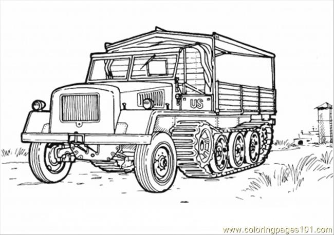 Country Vehicle Coloring Page Coloring Page