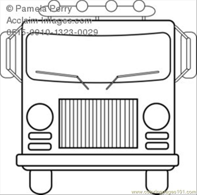 Hite Fire Truck Coloring Page Coloring Page Free Vehicle Transport