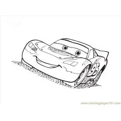 Cars Lightning Mcqueen Free Coloring Page for Kids