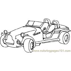 car Free Coloring Page for Kids