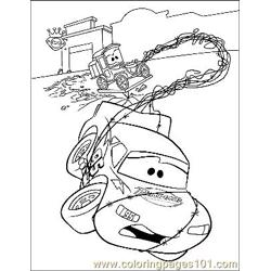 Cars 12 Free Coloring Page for Kids