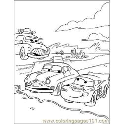 Cars 16 Free Coloring Page for Kids