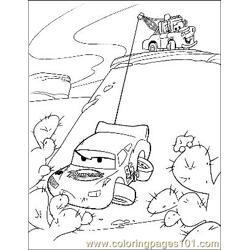 Cars 18 Free Coloring Page for Kids