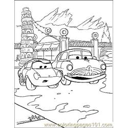 Cars 19 Free Coloring Page for Kids