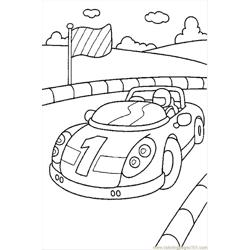 Cars1 Free Coloring Page for Kids
