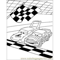 Cars 22 Free Coloring Page for Kids