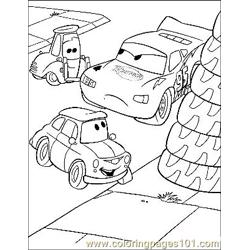 Cars 23 Free Coloring Page for Kids