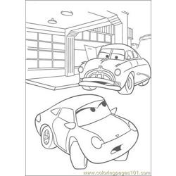 cars Free Coloring Page for Kids
