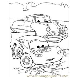 Cars 8 coloring page
