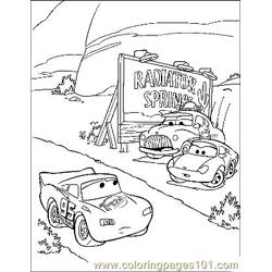 Cars 9 coloring page