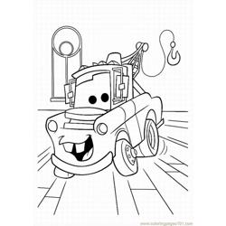 Cars (1) Free Coloring Page for Kids