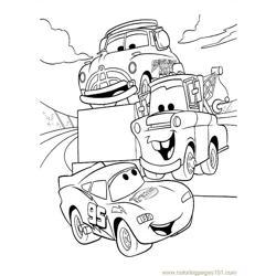 Cars (2) Free Coloring Page for Kids
