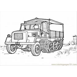 Country Vehicle Coloring Page