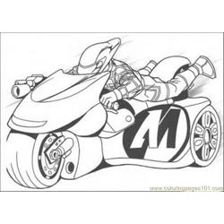 His Motorcycle Coloring Page