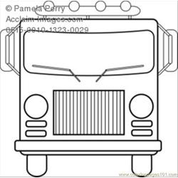 Hite Fire Truck Coloring Page