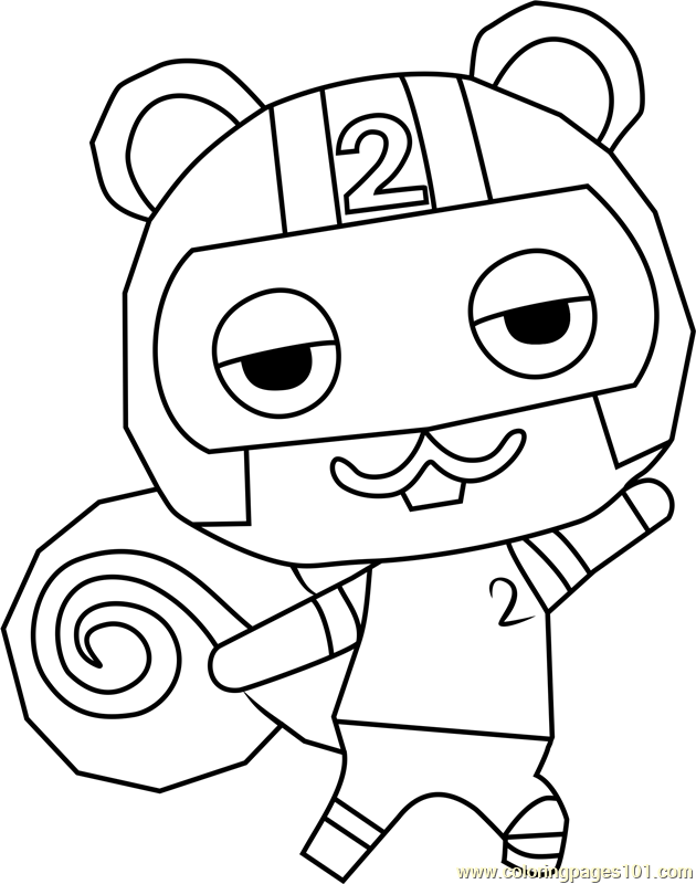 Agent S Animal Crossing Coloring Page