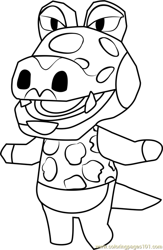 Alli Animal Crossing Coloring Page - Free Animal Crossing ...