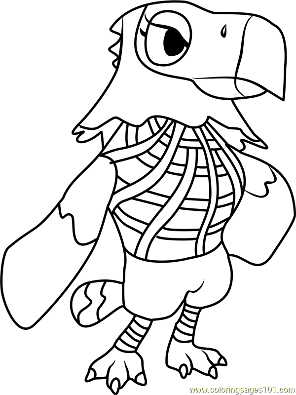 amelia animal crossing coloring page
