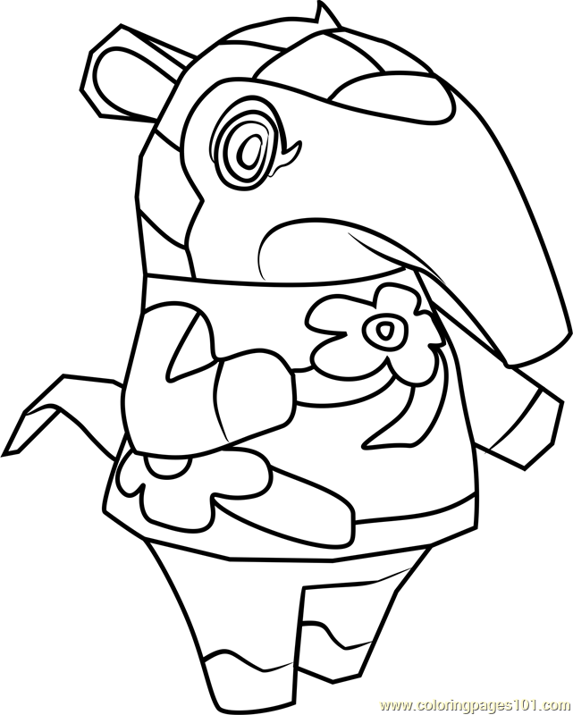 Anabelle Animal Crossing Coloring Page