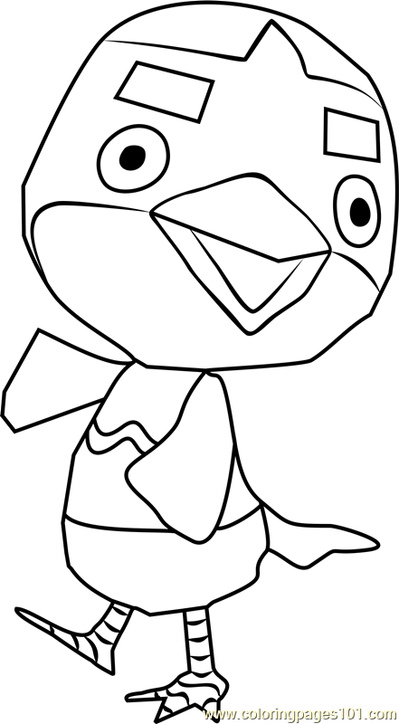 Anchovy Animal Crossing Coloring Page