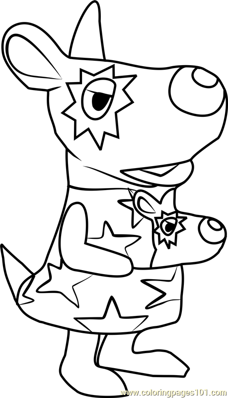 Astrid Animal Crossing Coloring Page