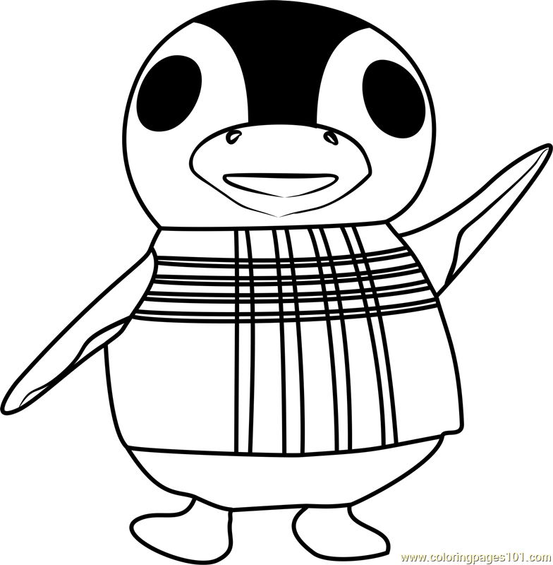 aurora animal crossing coloring page