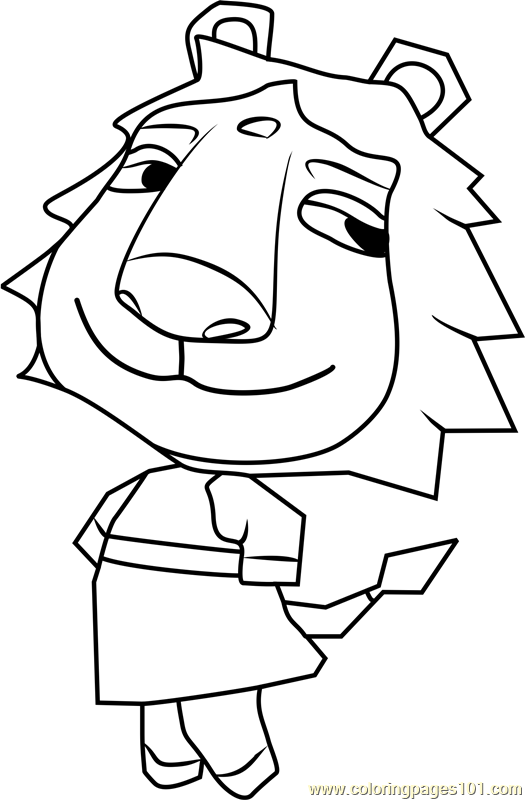 Aziz Animal Crossing Coloring Page