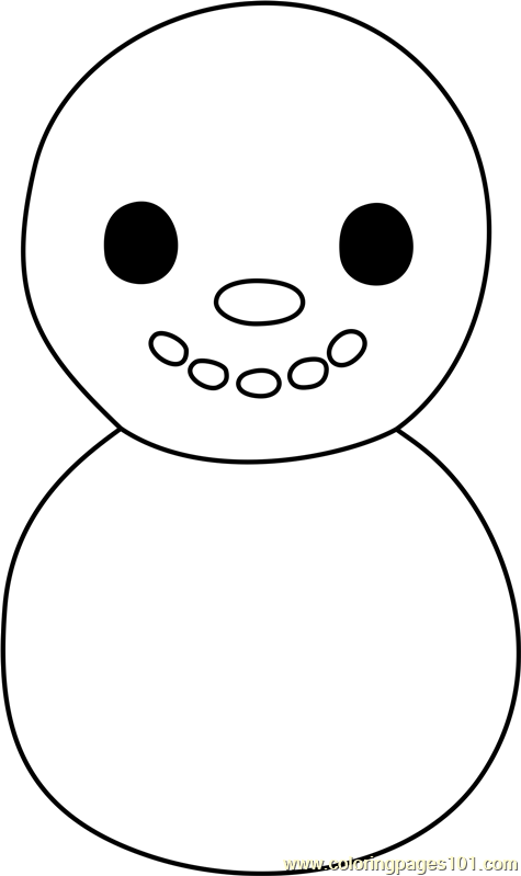 Baby Snowman Animal Crossing Coloring Page