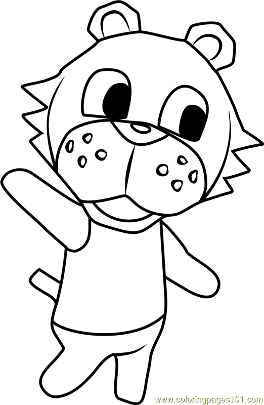 Bangle Animal Crossing Coloring Page