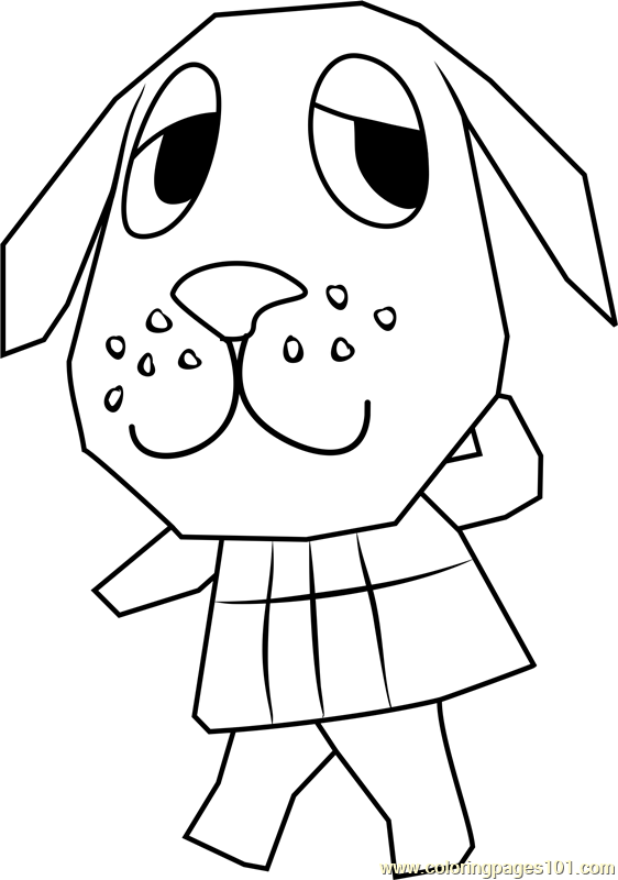 Bea Animal Crossing Coloring Page