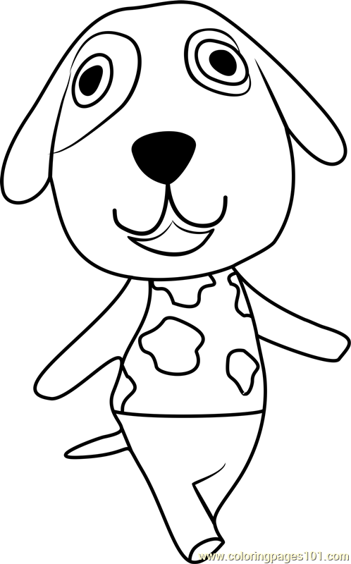 bones animal crossing coloring page