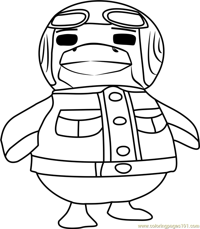 boomer animal crossing coloring page