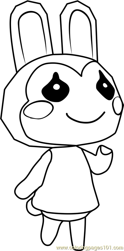 Bunnie Animal Crossing Coloring Page - Free Animal ...