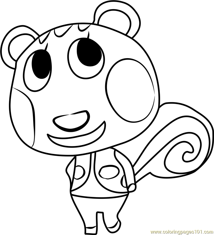 cally animal crossing coloring page