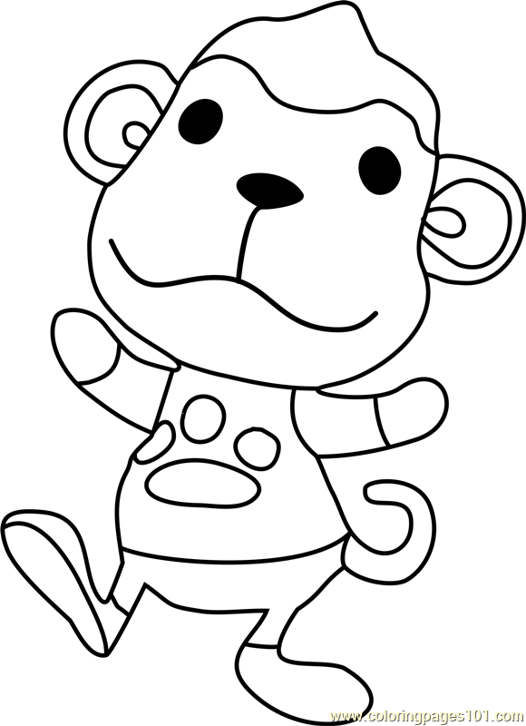 Champ Animal Crossing Coloring Page