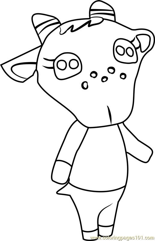 Chevre Animal Crossing Coloring Page