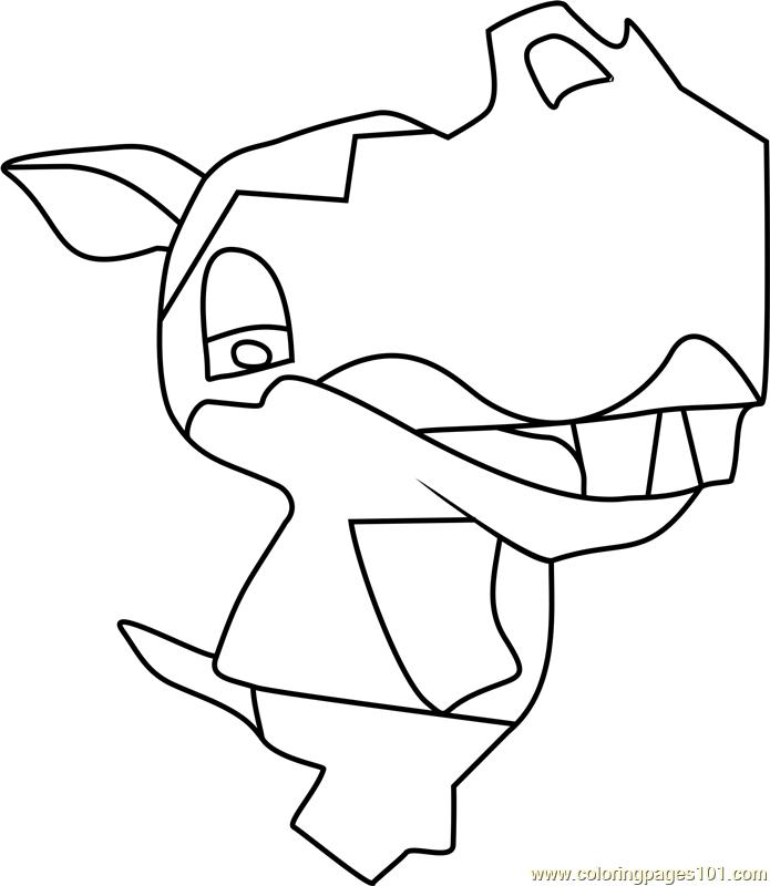 Clara Animal Crossing Coloring Page - Free Animal Crossing ...